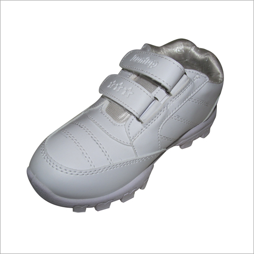 Girls White Leather School Shoes