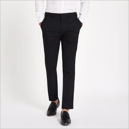 Men Black Formal Trouser
