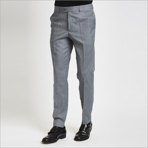Men Grey Formal Trouser