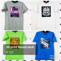3D Print Round Neck T Shirts