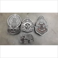 kathakali wooden printing blocks with animal 4 pcs pack for fabric printing