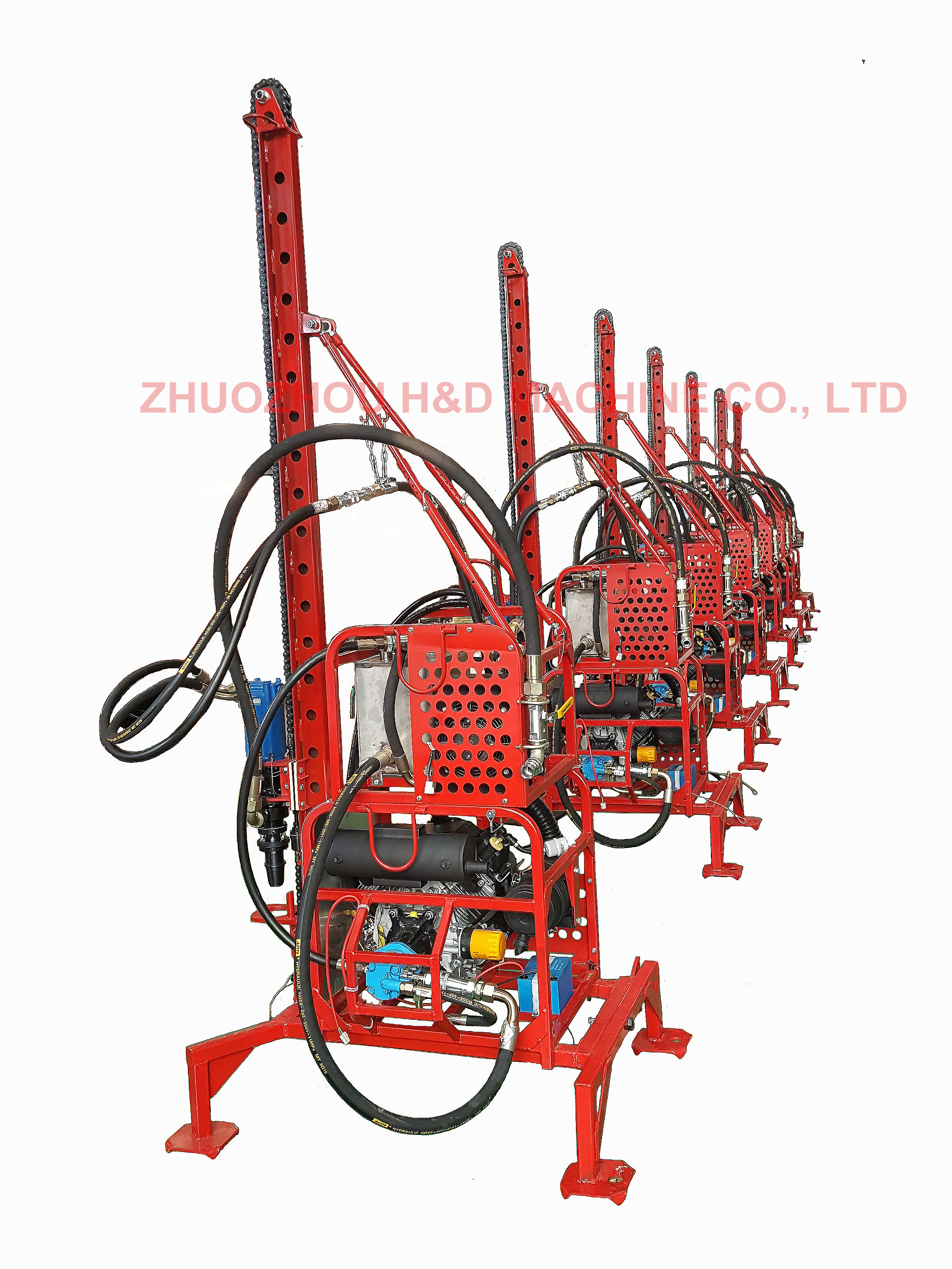 Modular type man portable drilling rig with light weight