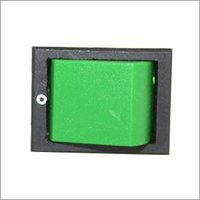 DV Rocker Switch, DPST, 6amp, 250vac, 4 Pins Without Light, Green, 1pcs