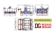 Automatic Manufactory Cloth Shrinking Machine/Heat Setting And Preshrinking Machine With Low Price