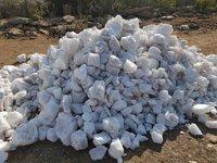 Indian cheap price good quality snow white quartz lumps lumps row