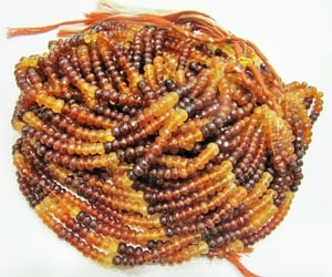 AAA Quality Natural Hessonite Garnet Rondelle Faceted