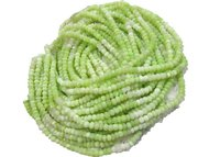 AAA Quality Natural Green Opal Gemstone Rondelle  Beads