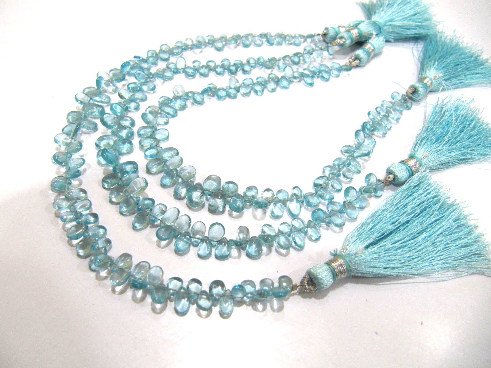 AAA Quality Natural Blue Apatite Smooth Tear Drop Bead