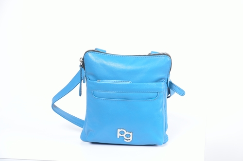 Blue Sling Leather Bag