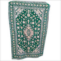 Chenille Green Janamaz Prayer Rug