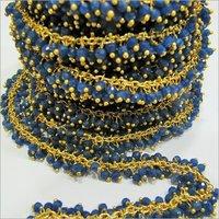 Genuine Sapphire Dangling Beaded Chain