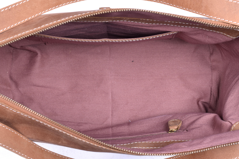 Camel Brown Leather Bag