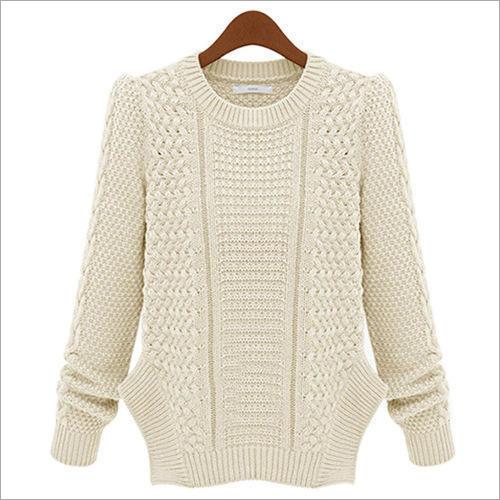 Ladies Round Neck Woolen Sweater
