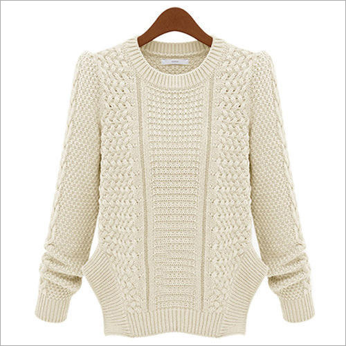 Ladies Round Neck Woolen Sweater