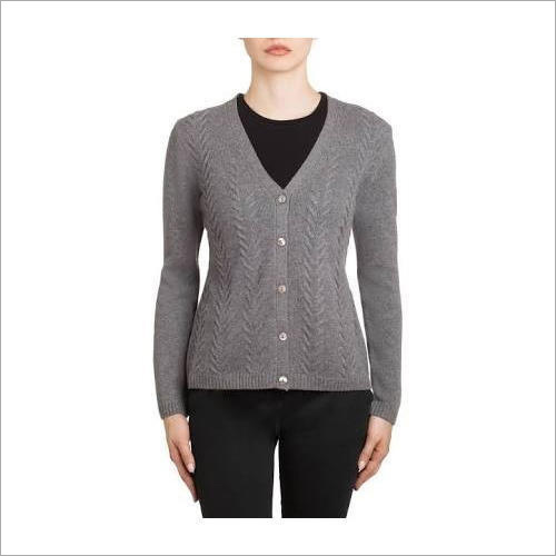Ladies Plain Cardigan
