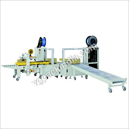 VG Automatic Taping cum Strapping Machine (Online) 4 Cross strapping