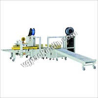 Automatic Taping cum Strapping Machine (Online) 4 Cross strapping