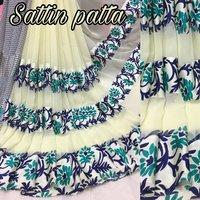 Fancy Satin Patta Saree