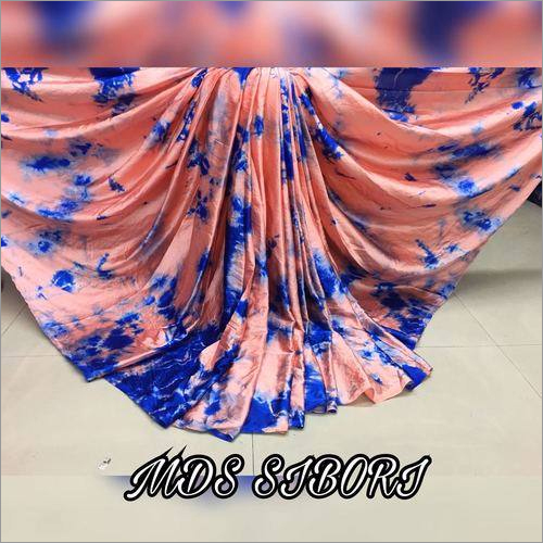 Pure Sattin saree with sibori print