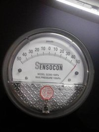 Sensocon 2300-100PA Differential Pressure Gage Range 50-0-50 Pa