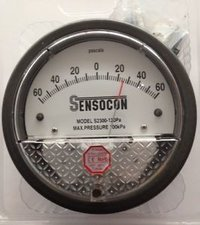 Sensocon 2300-120PA Differential Pressure Gage Range 60-0-60 Pa
