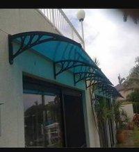 Polycarbonate Window Shed In PVC Bracket Design