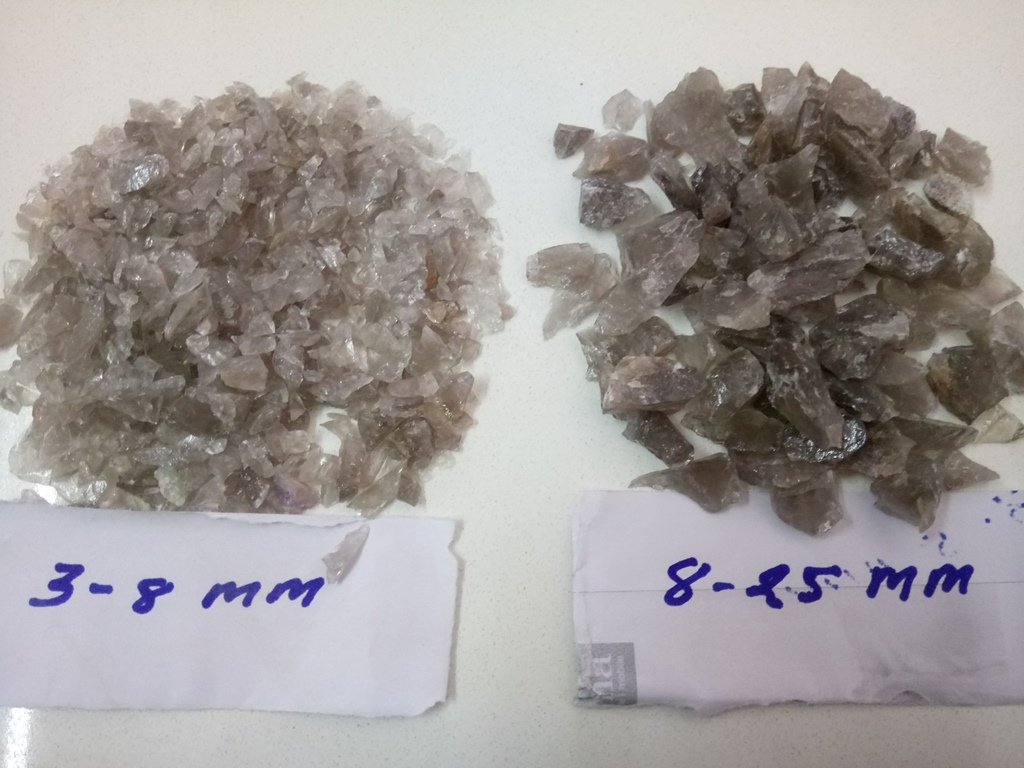 Crushed Smoky Quartz Lumps for Landscaping Gravel or Aggregate Lumps