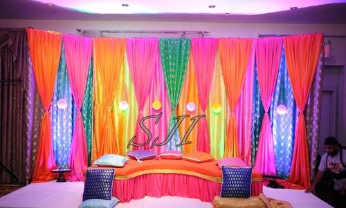 Colorful Sangeet Set Up