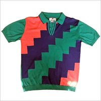 Multicolor Flat Knitted T-Shirt