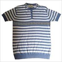 Striper Men's Flat Knitted T-Shirt