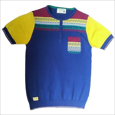 Fancy Flat Knitted T-Shirt