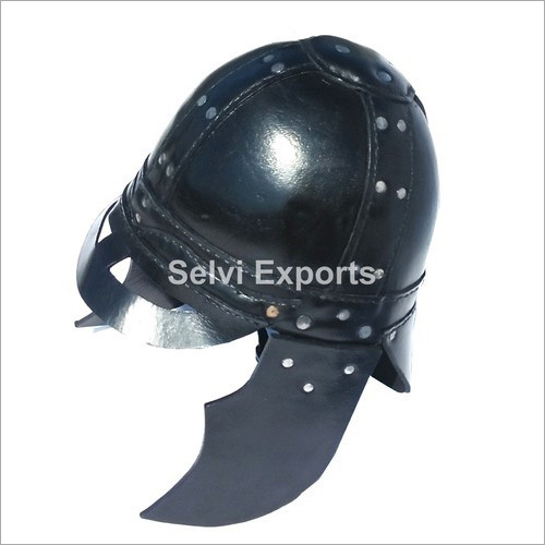 Medieval Leather Viking Helmet