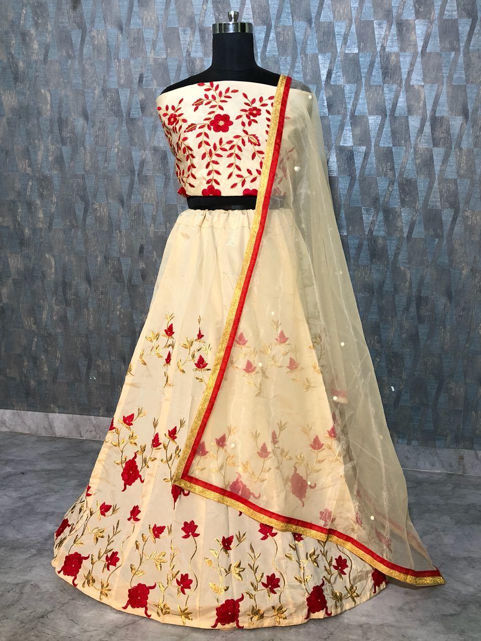 White Wedding Lehenga Choli