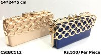 PU Designer box clutch
