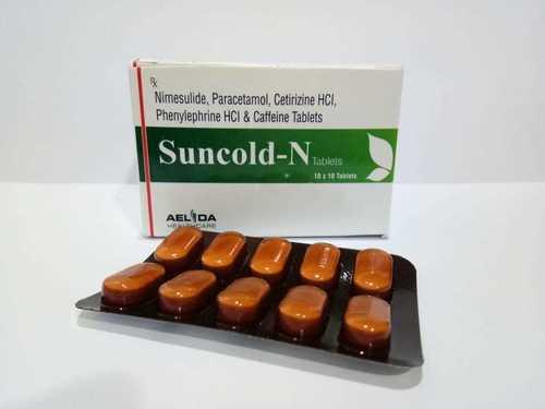 Nimesulide Paracetamol Cetirizine Phenylephrine Caffeine Tablets