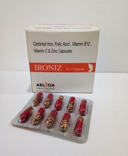 Carbonyl Iron Folic Acid Vitamin B12 Vitamin C Zinc Capsules
