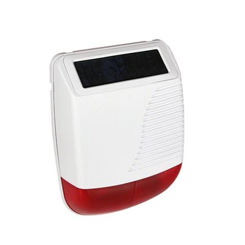 Solar Outdoor Alarm Strobe Siren