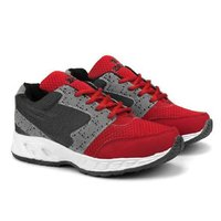 Mens Grey & Red Shoes