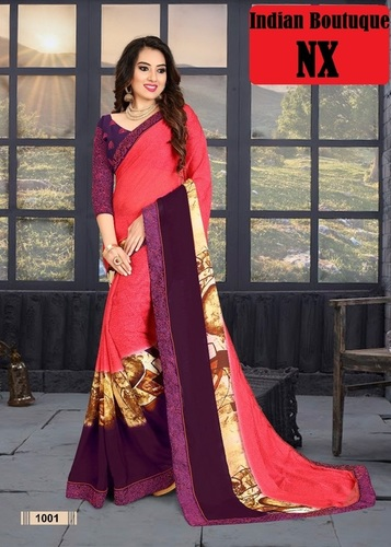 Party Wear Printed Sarees
