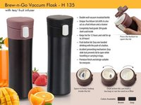 Brew n Go Vacuum flask: with Tea / Fruit infuser (500ml approx)