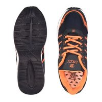Mens Navy Blue & Orange Shoes