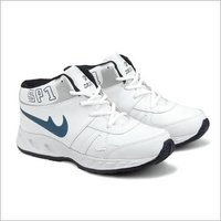 White & Black Fylon Sole Sports Shoes