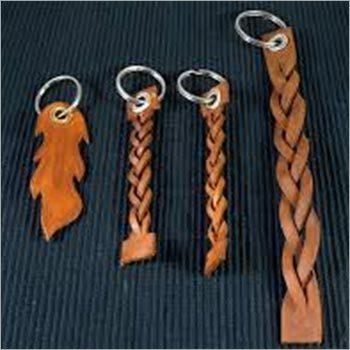 Leather Braided Key Ring