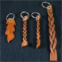 Leather Braided Key Ring