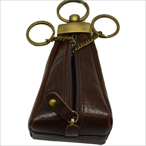 Leather Brown Key Ring