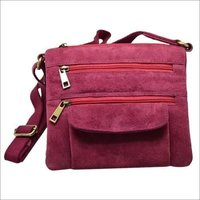 Leather Red Sling Bag