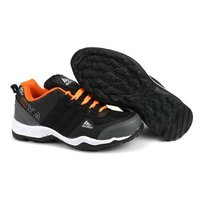 Mens Abibas Black Orange Sports Shoes