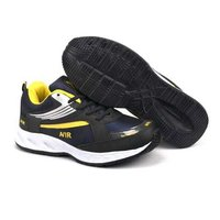Mens Navy Blue & Yellow Sports Shoes