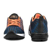 Mens Navy Blue & Orange Sports Shoes