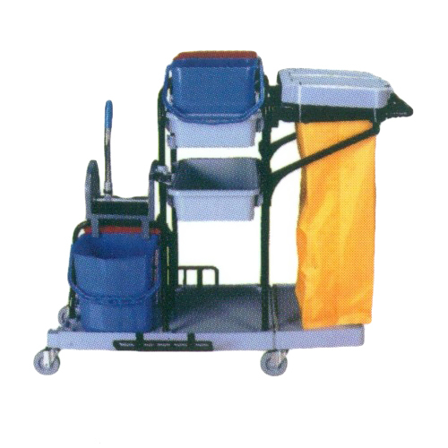 Double bucket Janitor Cart